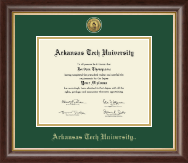 Arkansas Tech University Diploma Frame - Gold Engraved Medallion Diploma Frame in Hampshire