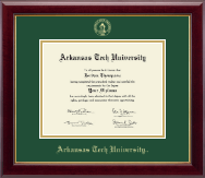 Arkansas Tech University Diploma Frame - Gold Embossed Diploma Frame in Gallery