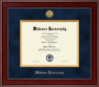 Widener University Diploma Frame - Presidential Gold Engraved Diploma Frame in Jefferson