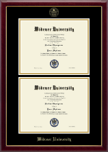 Widener University Diploma Frame - Double Diploma Frame in Gallery