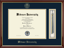 Widener University Diploma Frame - Tassel Edition Diploma Frame in Southport Gold