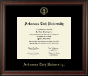 Arkansas Tech University Diploma Frame - Gold Embossed Diploma Frame in Studio