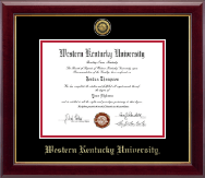 Western Kentucky University Diploma Frame - Gold Engraved Medallion Diploma Frame in Gallery