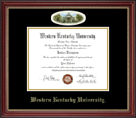 Western Kentucky University Diploma Frame - Campus Cameo Diploma Frame in Kensington Gold