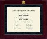Austin Peay State University Diploma Frame - Millennium Gold Engraved Diploma Frame in Cordova