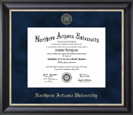 Northern Arizona University Diploma Frame - Gold Embossed Diploma Frame in Noir