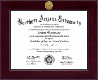 Northern Arizona University Diploma Frame - Century Gold Engraved Diploma Frame in Cordova