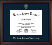 Northern Arizona University Diploma Frame - Gold Embossed Diploma Frame in Studio Gold