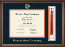 Virginia State University Diploma Frame - Tassel Edition Diploma Frame in Newport