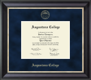 Augustana College Illinois Diploma Frame - Gold Embossed Diploma Frame in Noir