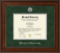Marshall University Diploma Frame - Presidential Silver Engraved Diploma Frame in Madison