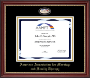 American Association for Marriage and Family Therapy Certificate Frame - Masterpiece Medallion Certificate Frame in Kensington Gold