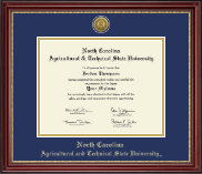 North Carolina A&T State University Diploma Frame - Gold Engraved Medallion Diploma Frame in Kensington Gold