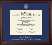 North Carolina A&T State University Diploma Frame - Gold Embossed Diploma Frame in Studio