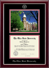 The Ohio State University Diploma Frame - Campus Scene Edition Diploma Frame in Gallery Silver