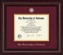 The University of Alabama Tuscaloosa Diploma Frame - Presidential Masterpiece Diploma Frame in Premier