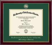 The University of North Carolina at Charlotte Diploma Frame - Masterpiece Medallion Diploma Frame in Gallery
