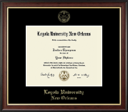 Loyola University New Orleans Diploma Frame - Gold Embossed Diploma Frame in Studio Gold