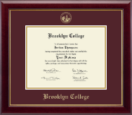 Brooklyn College Diploma Frame - Gold Embossed Diploma Frame in Gallery