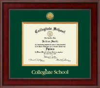 Collegiate School  Diploma Frame - Presidential Gold Engraved Diploma Frame in Jefferson
