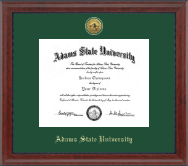 Adams State University  Diploma Frame - Gold Engraved Medallion Diploma Frame in Signature