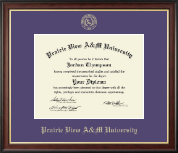 Prairie View A&M University Diploma Frame - Gold Embossed Diploma Frame in Studio Gold