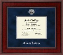 Smith College Diploma Frame - Presidential Silver Engraved Diploma Frame in Jefferson