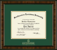 Southeastern Louisiana University Diploma Frame - Gold Embossed Diploma Frame in Brentwood