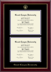 Grand Canyon University Diploma Frame - Double Document Diploma Frame in Gallery