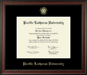 Pacific Lutheran University Diploma Frame - Gold Embossed Diploma Frame in Studio