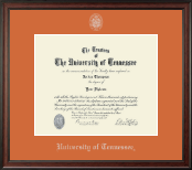 The University of Tennessee Knoxville Diploma Frame - Silver Embossed Diploma Frame in Studio