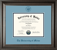 The University of Maine Orono Diploma Frame - Navy Embossed Diploma Frame in Acadia