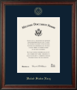 United States Navy Certificate Frame - Gold Embossed Certificate Frame in Studio