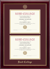 Reed College Diploma Frame - Double Diploma Frame in Gallery