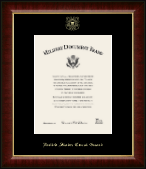 United States Coast Guard Certificate Frame - Gold Embossed Certificate Frame in Murano