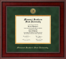 Missouri Southern State University Diploma Frame - Presidential Gold Engraved Diploma Frame in Jefferson
