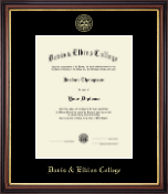 Davis & Elkins College Diploma Frame - Gold Embossed Diploma Frame in Regency Gold