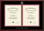 Davis & Elkins College Diploma Frame - Double Document Diploma Frame in Galleria