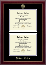 Defiance College Diploma Frame - Double Diploma Frame in Gallery