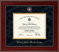 United States Marine Corps Certificate Frame - Presidential Masterpiece Certificate Frame in Jefferson
