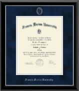 Francis Marion University Diploma Frame - Silver Embossed Diploma Frame in Onyx Silver