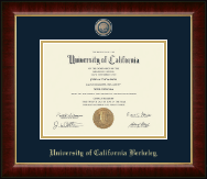 University of California Berkeley Diploma Frame - Masterpiece Medallion Diploma Frame in Murano