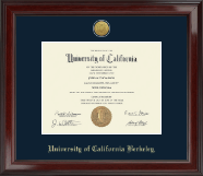 University of California Berkeley Diploma Frame - Gold Engraved Medallion Diploma Frame in Encore