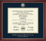 Pennsylvania State University Diploma Frame - Masterpiece Medallion Diploma Frame in Kensington Gold