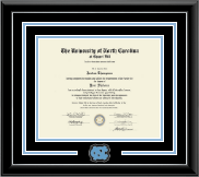 University of North Carolina Chapel Hill Diploma Frame - Spirit Medallion Diploma Frame in Onyx Silver