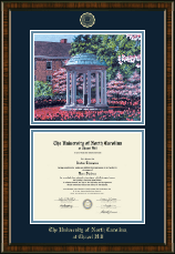 University of North Carolina Chapel Hill Diploma Frame - Campus Scene Diploma Frame in Brentwood