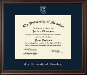 The University of Memphis Diploma Frame - Silver Embossed Diploma Frame in Studio