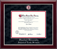 Stanford University Diploma Frame - Pewter Masterpiece Medallion Diploma Frame in Gallery Silver