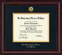 University of Texas at El Paso Diploma Frame - Presidential Gold Engraved Diploma Frame in Premier
