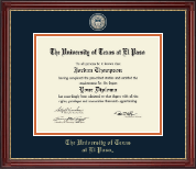 University of Texas at El Paso Diploma Frame - Masterpiece Medallion Diploma Frame in Kensington Gold